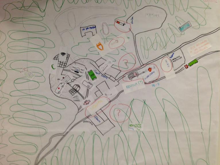 Mapa de riesgo elaborado por los chicos y chicas de 3r ESO del Instituto Baix Montseny de Sant Celoni